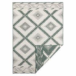 Zeleno-krémový vonkajší koberec Bougari Malibu, 170 x 120 cm