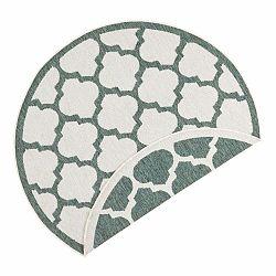 Zeleno-krémový vonkajší koberec Bougari Palermo, ⌀ 140 cm
