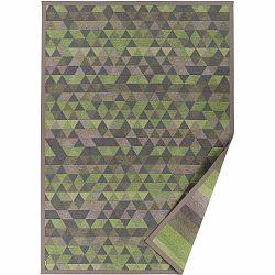 Zelený vzorovaný obojstranný koberec Narma Luke, 140 × 200 cm