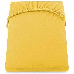 Žltooranžová elastická plachta DecoKing Nephrite, 120-140 cm